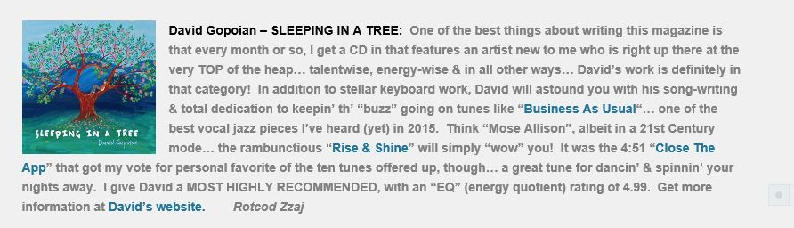review Sleeping in a tree